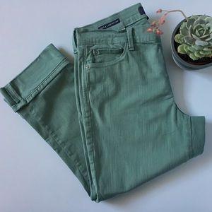 NYDJ Dayla Wide Cuff Capri Lift X Tuck Jeans EUC